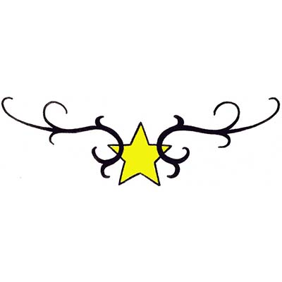 Star Tribal Design Water Transfer Temporary Tattoo(fake Tattoo) Stickers NO.11562