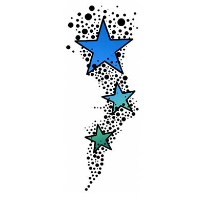 Stardust Design Water Transfer Temporary Tattoo(fake Tattoo) Stickers NO.11558