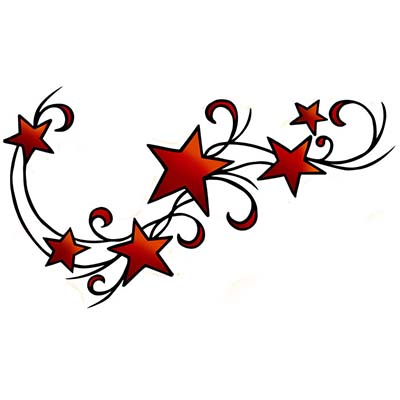 Star Design Water Transfer Temporary Tattoo(fake Tattoo) Stickers NO.11563
