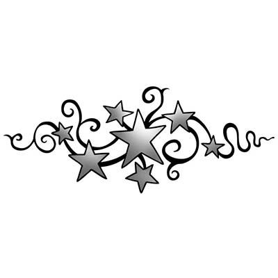 Tribal Stars Design Water Transfer Temporary Tattoo(fake Tattoo) Stickers NO.11565