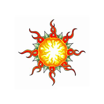 Sun Design Water Transfer Temporary Tattoo(fake Tattoo) Stickers NO.11578