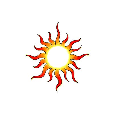 Sun Design Water Transfer Temporary Tattoo(fake Tattoo) Stickers NO.11580