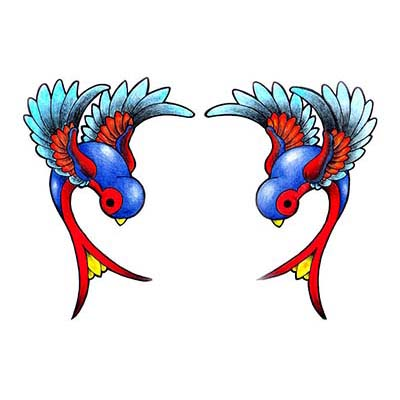 Swallow Design Water Transfer Temporary Tattoo(fake Tattoo) Stickers NO.11599