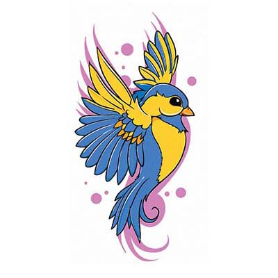 Swallow Design Water Transfer Temporary Tattoo(fake Tattoo) Stickers NO.11601