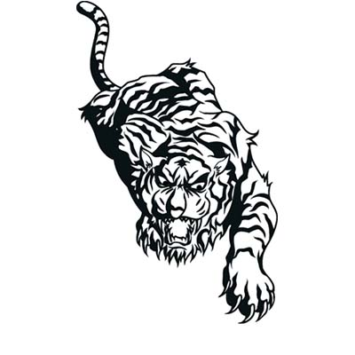 Tiger Design Water Transfer Temporary Tattoo(fake Tattoo) Stickers NO.11617