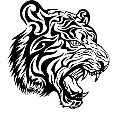 Tribal Tiger Design Water Transfer Temporary Tattoo(fake Tattoo) Stickers NO.11619
