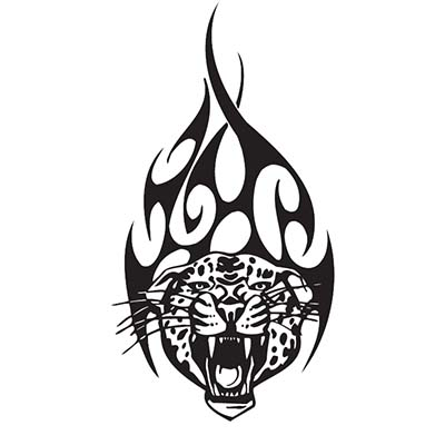Tribal Tiger Design Water Transfer Temporary Tattoo(fake Tattoo) Stickers NO.11621
