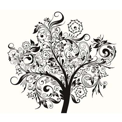 Amazing Black Tree Design Water Transfer Temporary Tattoo(fake Tattoo) Stickers NO.11622