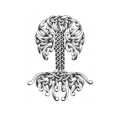 Celtic Tree Of Life Design Water Transfer Temporary Tattoo(fake Tattoo) Stickers NO.11627
