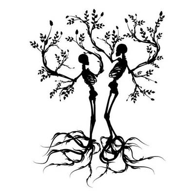 Skeleton Tree Designs Water Transfer Temporary Tattoo(fake Tattoo) Stickers NO.11630