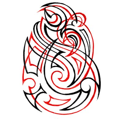 Feminine Tribal Design Water Transfer Temporary Tattoo(fake Tattoo) Stickers NO.11640