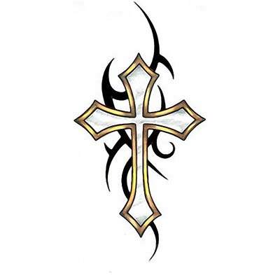 Tribal Cross Design Water Transfer Temporary Tattoo(fake Tattoo) Stickers NO.11647