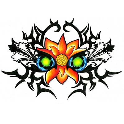 Tribal For Girls Design Water Transfer Temporary Tattoo(fake Tattoo) Stickers NO.11655