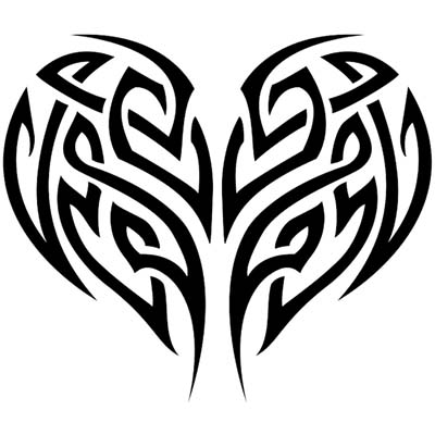 Tribal Heart Tree Design Water Transfer Temporary Tattoo(fake Tattoo) Stickers NO.11650