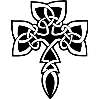 Tribals Celtic Cross Design Water Transfer Temporary Tattoo(fake Tattoo) Stickers NO.11635