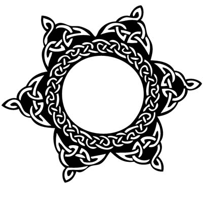 Tribals Celtic Sun Design Water Transfer Temporary Tattoo(fake Tattoo) Stickers NO.11636