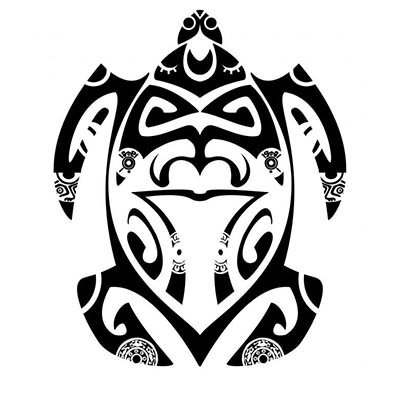 Polynesian Turtle Design Water Transfer Temporary Tattoo(fake Tattoo) Stickers NO.11661