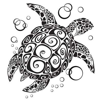 Sea Turtle Design Water Transfer Temporary Tattoo(fake Tattoo) Stickers NO.11662
