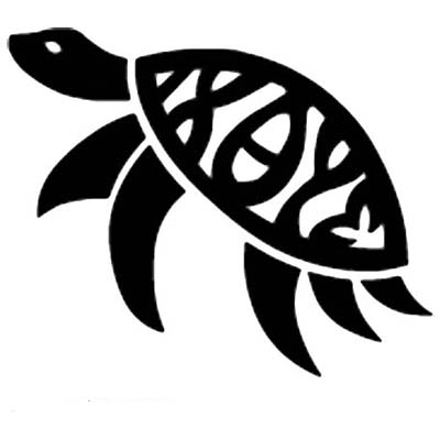Simple Turtle Design Water Transfer Temporary Tattoo(fake Tattoo) Stickers NO.11663
