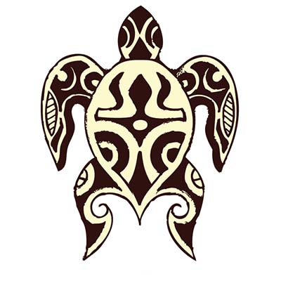 Tribal Turtle Design Water Transfer Temporary Tattoo(fake Tattoo) Stickers NO.11668