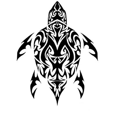 Tribal Turtle Design Water Transfer Temporary Tattoo(fake Tattoo) Stickers NO.11670