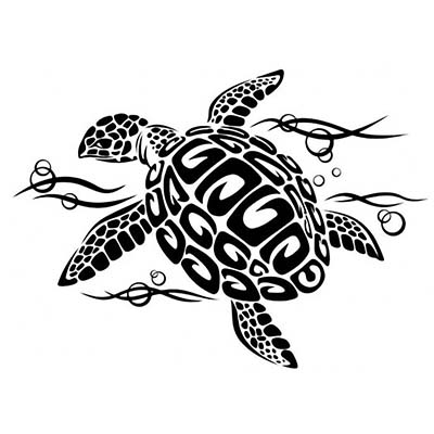 Turtle Design Water Transfer Temporary Tattoo(fake Tattoo) Stickers NO.11674