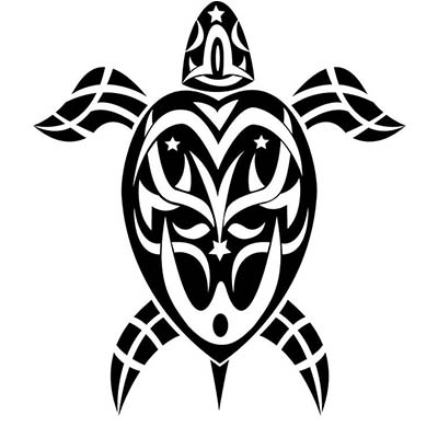 Turtle Design Water Transfer Temporary Tattoo(fake Tattoo) Stickers NO.11677