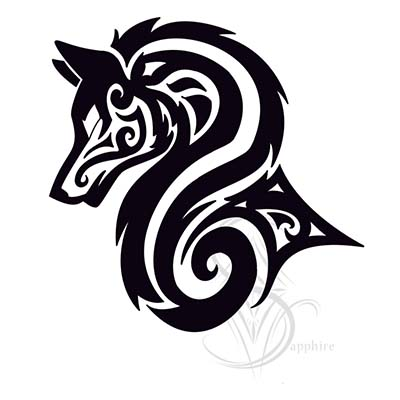 Tribal Wolf Design Water Transfer Temporary Tattoo(fake Tattoo) Stickers NO.11712