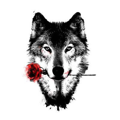 Wolf Design Water Transfer Temporary Tattoo(fake Tattoo) Stickers NO.11693