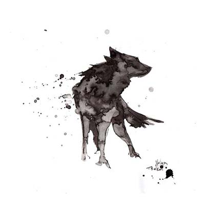 Wolf Design Water Transfer Temporary Tattoo(fake Tattoo) Stickers NO.11699