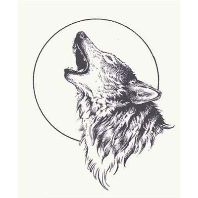 Wolf Design Water Transfer Temporary Tattoo(fake Tattoo) Stickers NO.11704