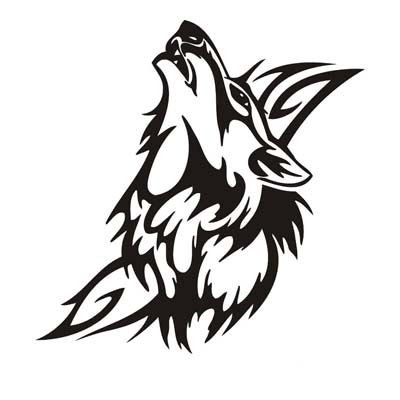 Wolf Design Water Transfer Temporary Tattoo(fake Tattoo) Stickers NO.11730