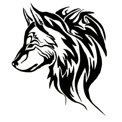 Wolf Head Design Water Transfer Temporary Tattoo(fake Tattoo) Stickers NO.11720