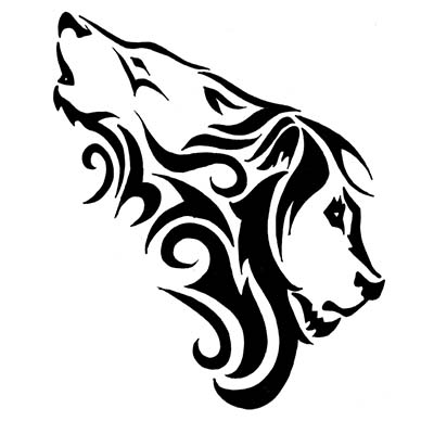 Wolf Lion Design Water Transfer Temporary Tattoo(fake Tattoo) Stickers NO.11723