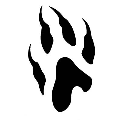 Wolf Paw Design Water Transfer Temporary Tattoo(fake Tattoo) Stickers NO.11725