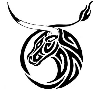Taurus Zodiac Signs On Shoulder Design Water Transfer Temporary Tattoo(fake Tattoo) Stickers NO.11767