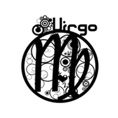 Zodiac Virgo Design Water Transfer Temporary Tattoo(fake Tattoo) Stickers NO.11764