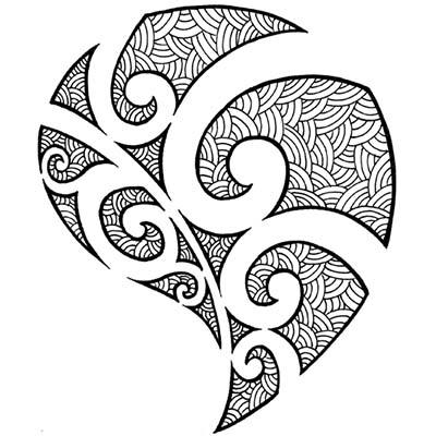 Black Celtic Designs Fake Temporary Water Transfer Tattoo Stickers NO.10213