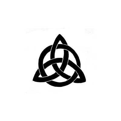 Celtic Triquetra Design Fake Temporary Water Transfer Tattoo Stickers NO.10222
