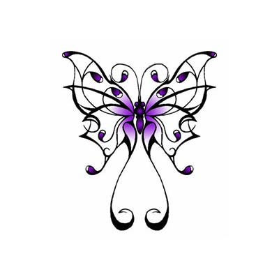 Fantasy Purple Celtic Design Fake Temporary Water Transfer Tattoo Stickers NO.10225
