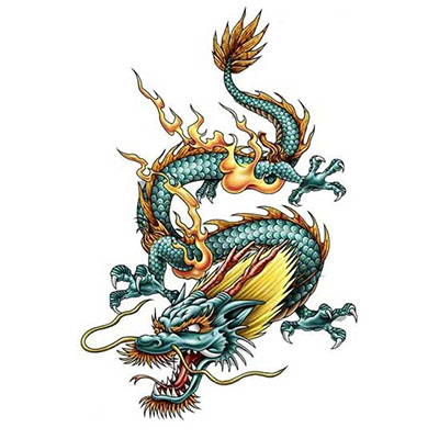 Chinese Dragon Courage Design Fake Temporary Water Transfer Tattoo Stickers NO.10242