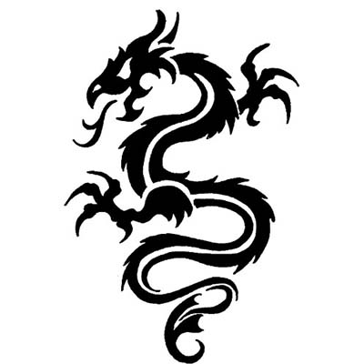 Chinese Dragon With Ying Yang On Back designs Fake Temporary Water Transfer Tattoo Stickers NO.10249