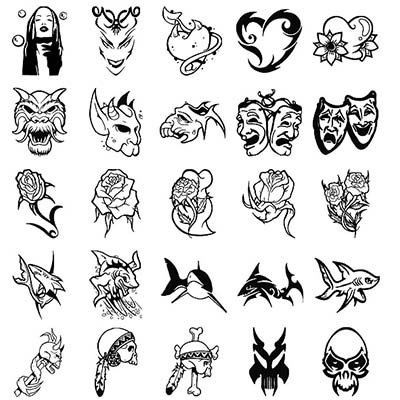Chinese Sample designs Fake Temporary Water Transfer Tattoo Stickers NO.10259