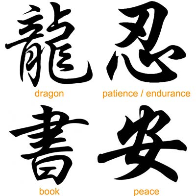 Chinese dragon peace book patience designs Fake Temporary Water Transfer Tattoo Stickers NO.10258