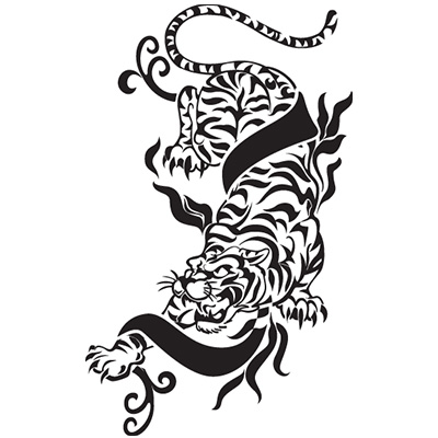 Chinese tattoo tiger designs Fake Temporary Water Transfer Tattoo Stickers NO.10262