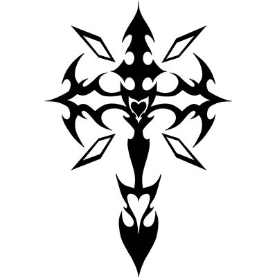 Christian Tribal crosses designs Fake Temporary Water Transfer Tattoo Stickers NO.10300