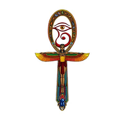 Awesome Egyptian Eye designs Fake Temporary Water Transfer Tattoo Stickers NO.10306