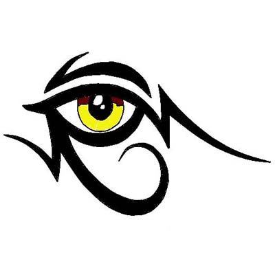 Egyptian Eye Design Fake Temporary Water Transfer Tattoo Stickers NO.10313