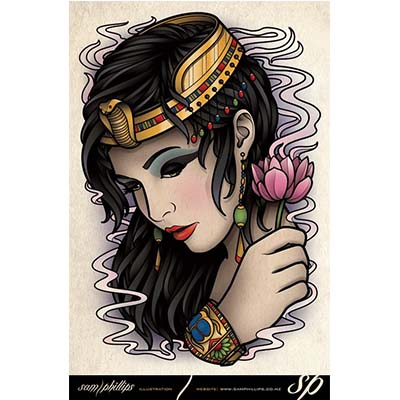 Egyptian Sample designs Fake Temporary Water Transfer Tattoo Stickers NO.10319