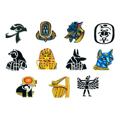 Few Egyptian Designs Fake Temporary Water Transfer Tattoo Stickers NO.10322